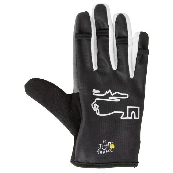 Tour de France Full Finger Black Gel Gloves
