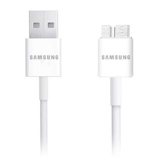 Samsung 5-Feet USB 3.0 Data Cable for Galaxy S5 / Galaxy Note 3 - White