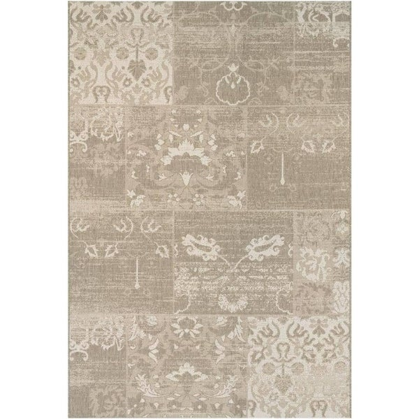 Couristan Afuera Country Cottage/Beige-Ivory Indoor/Outdoor Area Rug - 5'3 x 7'6