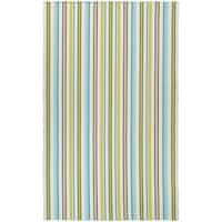 Maine Stay Striped Lime Area Rug - 5' x 8'