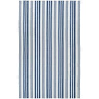 Maine Stay Striped Blue/Gray Area Rug - 5' x 8'