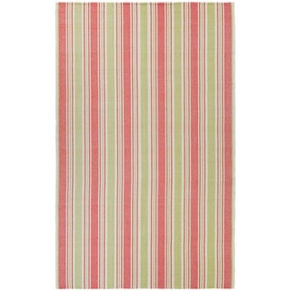 Stripes Rugby Pink Kids Rug 5 X 8 Free Shipping
