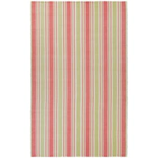 Couristan Bar Harbor 0689/ 0082 Raspberry Lemonade Rug (5' x 8')