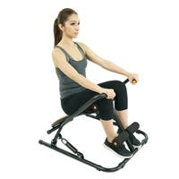 Sunny Health & Fitness SF-RW1406 Sit Up Rowing Machine Rower - Black