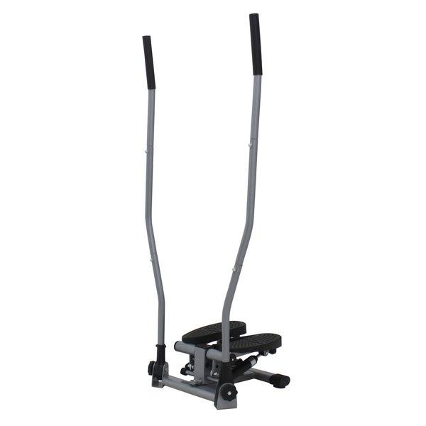 Sunny Health & Fitness Dual Action Swivel Stepper with Handlebars