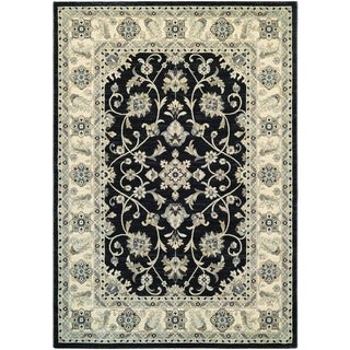 Couristan Everest Rosetta/Ebony Area Rug - 5'3 x 7'6