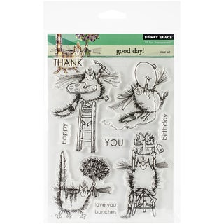 """Penny Black Clear Stamps 5""""X7.5"""" Sheet-Good Day!"""