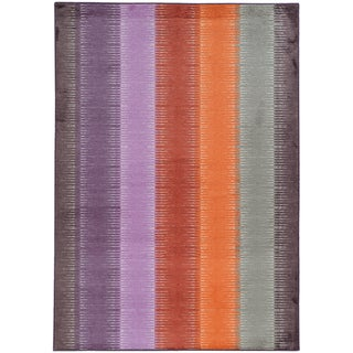 Pantone Universe Prismatic Multi/ Red Rug (7'10 x 10'10)