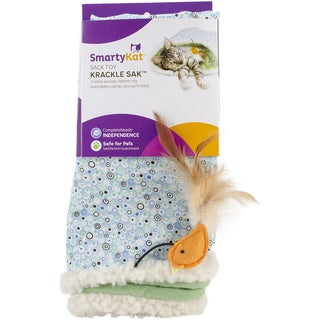 SmartyKat KrackleSak Sack Toy 10X5X13in