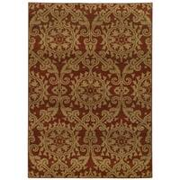 Floral Rust/ Taupe Rug