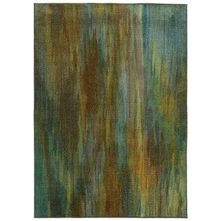 Pantone Universe Prismatic Green/ Blue Rug (5'3 x 7'6)