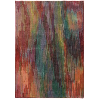 Pantone Universe Prismatic Red/ Orange Rug - 7'10 x 10'10