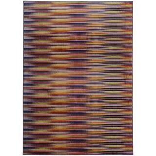 Pantone Universe Prismatic Lavender/ Red Rug (7'10 x 10'10)