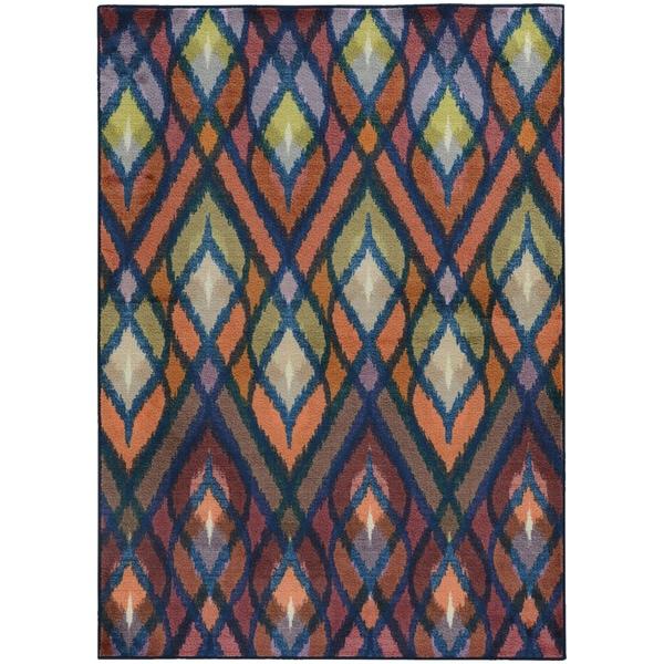 Pantone Universe Prismatic Orange/ Blue Rug (9'8 x 12'1) - 9'8 x 12'1
