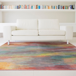 Pantone Universe Prismatic Red/ Orange Rug (6'7 x 9'6)