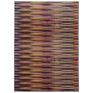 Pantone Universe Prismatic Lavender/ Red Rug (5'3 x 7'6)