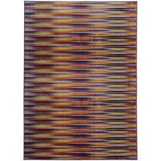 Pantone Universe Prismatic Lavender/ Red Rug (9'8 x 12'1)