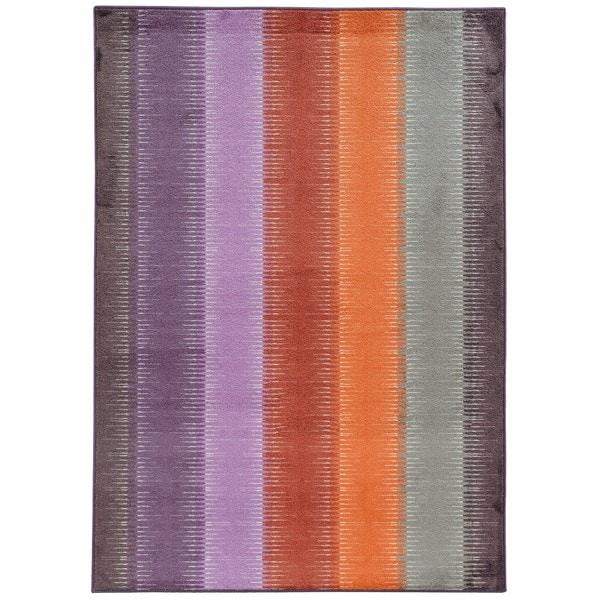 Pantone Universe Prismatic Lavender/ Red Rug (9'8 x 12'1) - 9'8 x 12'1