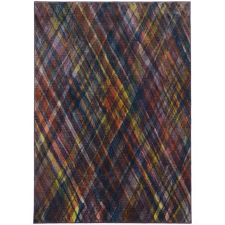 Aura Argyle Purple/ Green Rug (9'8 x 12'1)