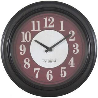Round Black Frame 16-inch Wall Clock