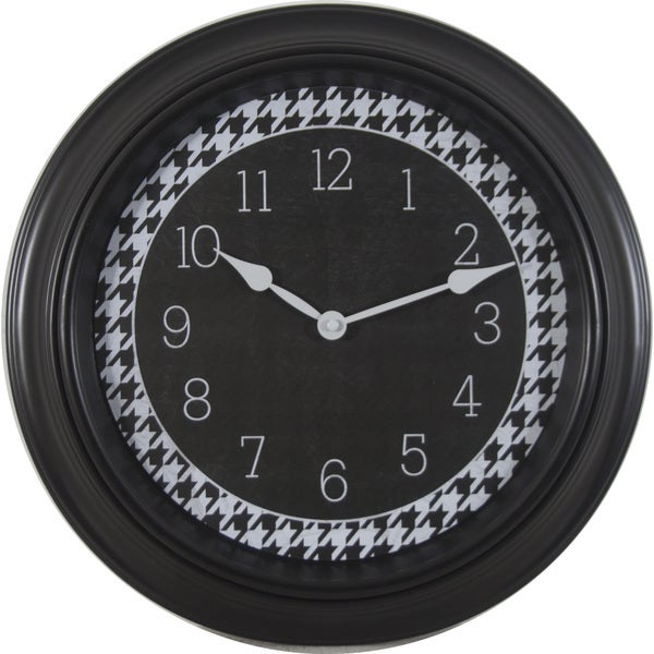 Round Black Frame 16-inch Wall Clock