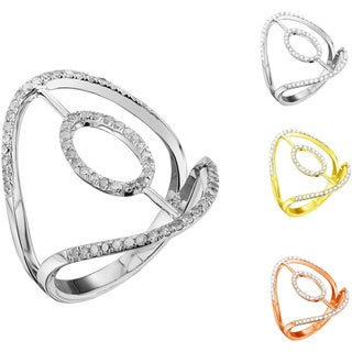 Woman Fashion 14K Gold 1/3ct TDW Diamond Unique Engagement Ring (G-H I1-I2)
