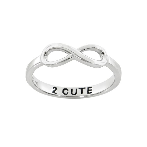 Eternally Haute Sterling Silver 2 Cute Infinity Band