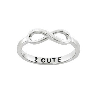 Eternally Haute Sterling Silver 2 Cute Infinity Band