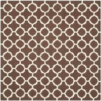 Safavieh Handmade Cambridge Dark Brown/ Ivory Wool Rug - 8' Square