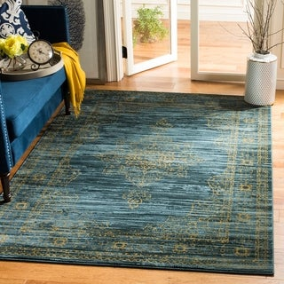 Safavieh Serenity Turquoise/ Gold Rug (6' x 9')