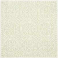 Safavieh Handmade Cambridge Moroccan Light Green/ Ivory Rug - 8' x 8' Square
