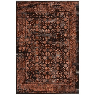 Safavieh Handmade Sapphire Light Brown/ Rust Wool/ Viscose Rug (6' x 9')