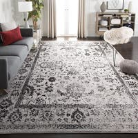 Safavieh Adirondack Vintage Distressed Grey / Black Rug - 8' Square