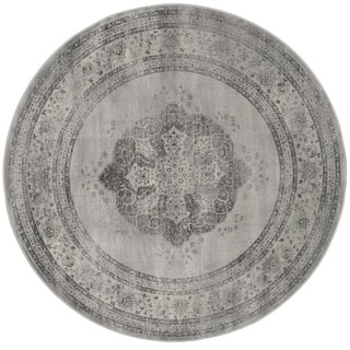 Safavieh Vintage Grey/ Multi Distressed Silky Viscose Rug (8' Round)