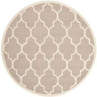 Safavieh Handmade Cambridge Beige/ Ivory Wool Rug - 8' Round