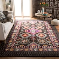 Safavieh Monaco Bohemian Brown/ Multicolored Rug - 6'7 x 9'2