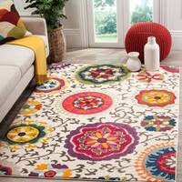 Safavieh Monaco Floral Ivory / Multicolored Rug - 6'7 x 9'2