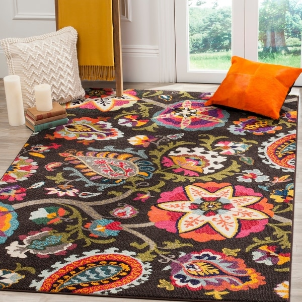 Safavieh Monaco Floral Brown/ Multicolored Rug - 6'7 x 9'2