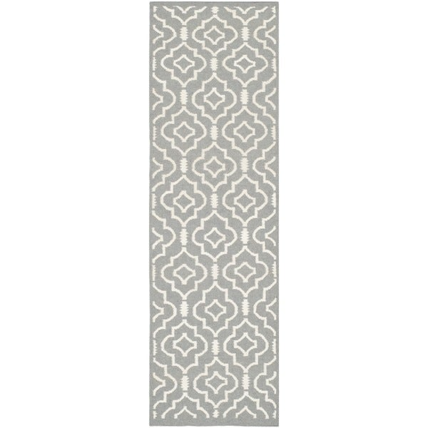 Shop Safavieh Handmade Flatweave Dhurries Grey Ivory Wool