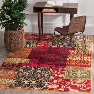 Safavieh Monaco Bohemian Patchwork Multicolored Distressed Rug (6'7 x 9'2)