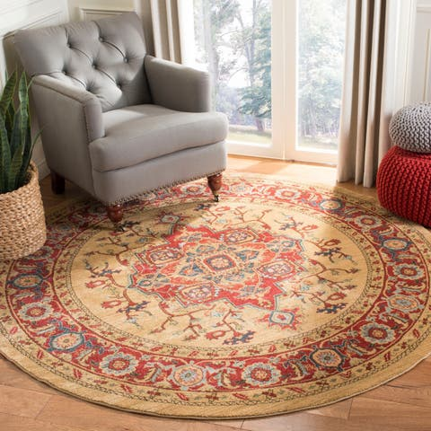 Safavieh Mahal Traditional Grandeur Red Natural Rug 9
