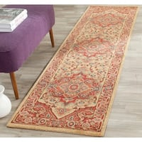 Safavieh Mahal Traditional Grandeur Red/ Natural Rug - 2'2 X 8'