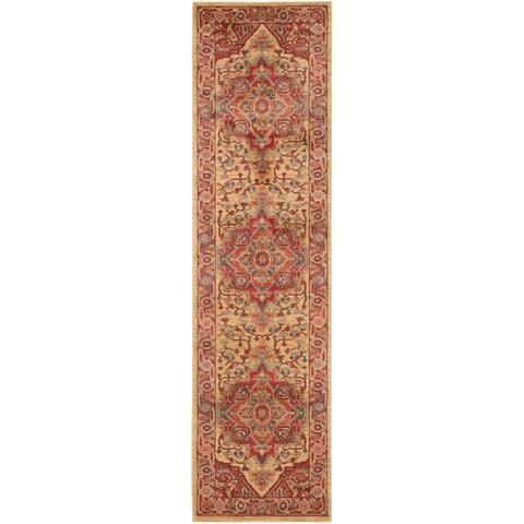 Safavieh Mahal Traditional Grandeur Red Natural Rug