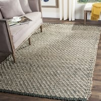 Safavieh Casual Natural Fiber Hand-Woven Blue/ Natural Jute Rug - 6' x 6' Square