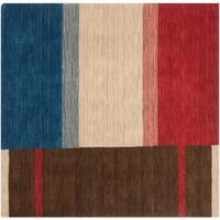 Safavieh Handmade Himalaya Brown/ Multicolored Wool Gabbeh Rug - 6' x 6' Square
