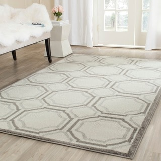 Safavieh Indoor/ Outdoor Amherst Ivory/ Light Grey Rug (10' x 14')