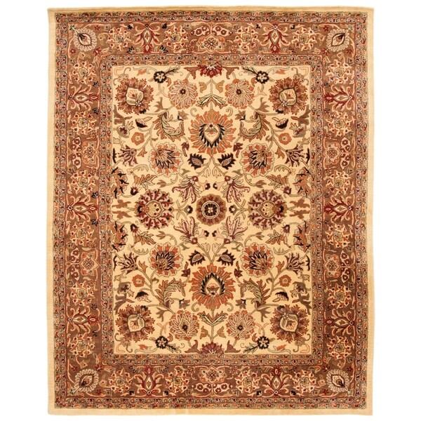 """Safavieh Handmade Classic Ivory/ Red Wool Rug - 8'-3"""" x 11'"""