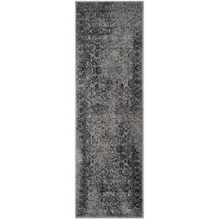 Safavieh Adirondack Vintage Distressed Grey / Black Runner Rug (2'6 x 10')