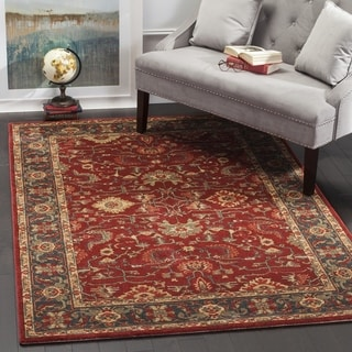 Safavieh Mahal Traditional Grandeur Red/ Navy Rug (6'7 x 9'2)