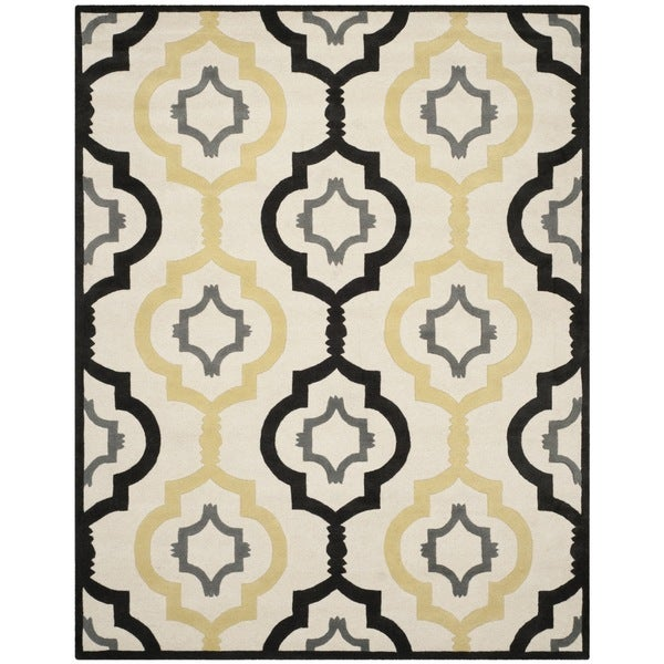 Safavieh Handmade Chatham Ivory/ Multi Wool Rug - 8'9 x 12'